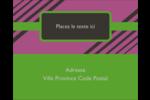 Bandes noires sur fond violet  Étiquettes rondes gaufrées - gabarit prédéfini. <br/>Utilisez notre logiciel Avery Design & Print Online pour personnaliser facilement la conception.