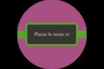 Bandes noires sur fond violet  Étiquettes arrondies - gabarit prédéfini. <br/>Utilisez notre logiciel Avery Design & Print Online pour personnaliser facilement la conception.