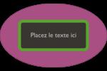 Bandes noires sur fond violet  Étiquettes carrées - gabarit prédéfini. <br/>Utilisez notre logiciel Avery Design & Print Online pour personnaliser facilement la conception.