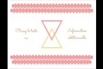 Triangles modernes pour typographie Carte Postale - gabarit prédéfini. <br/>Utilisez notre logiciel Avery Design & Print Online pour personnaliser facilement la conception.