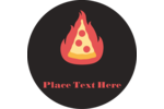 Spice up your custom project with pre-designed Flaming Hot Pizza templates!