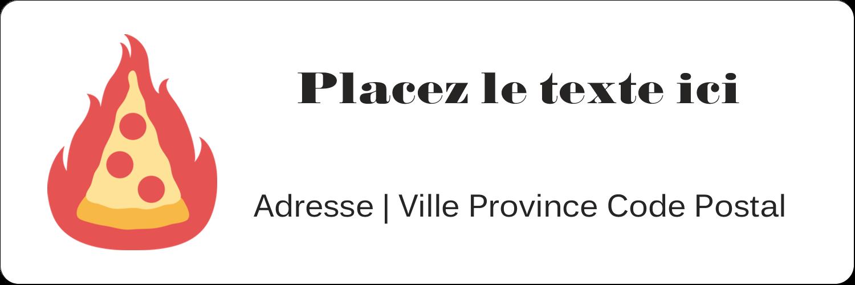 """2¼"""" x ¾"""" Étiquettes D'Adresse - Pizza ardente"""