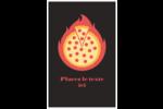 Pizza ardente Reliures - gabarit prédéfini. <br/>Utilisez notre logiciel Avery Design & Print Online pour personnaliser facilement la conception.