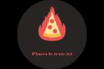 Pizza ardente Étiquettes Voyantes - gabarit prédéfini. <br/>Utilisez notre logiciel Avery Design & Print Online pour personnaliser facilement la conception.