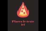 Pizza ardente Étiquettes carrées - gabarit prédéfini. <br/>Utilisez notre logiciel Avery Design & Print Online pour personnaliser facilement la conception.