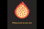 Pizza ardente Étiquettes rondes - gabarit prédéfini. <br/>Utilisez notre logiciel Avery Design & Print Online pour personnaliser facilement la conception.
