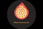 Pizza ardente Étiquettes arrondies - gabarit prédéfini. <br/>Utilisez notre logiciel Avery Design & Print Online pour personnaliser facilement la conception.