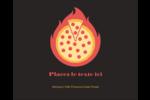 Pizza ardente Étiquettes rondes gaufrées - gabarit prédéfini. <br/>Utilisez notre logiciel Avery Design & Print Online pour personnaliser facilement la conception.