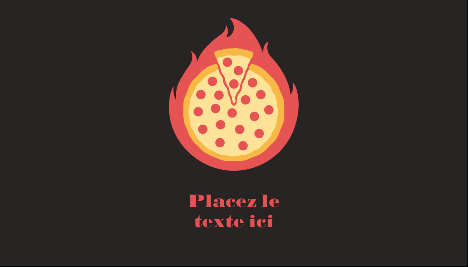 "3½"" x 2"" Carte d'affaire - Pizza ardente"