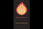 Pizza ardente Carte d'affaire - gabarit prédéfini. <br/>Utilisez notre logiciel Avery Design & Print Online pour personnaliser facilement la conception.