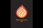 Pizza ardente Carte Postale - gabarit prédéfini. <br/>Utilisez notre logiciel Avery Design & Print Online pour personnaliser facilement la conception.