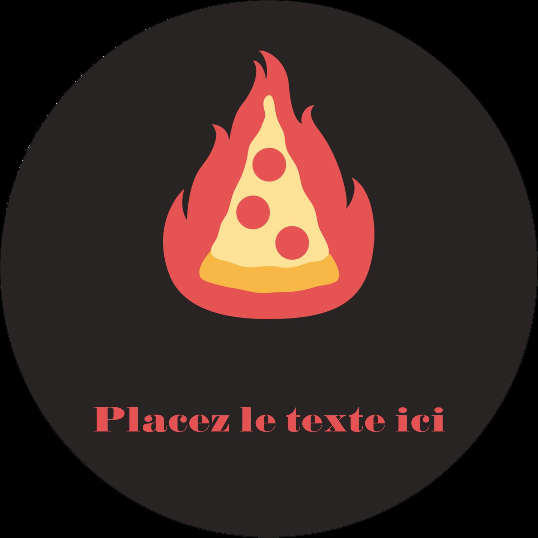 """2½"""" Diameter Étiquettes rondes - Pizza ardente"""
