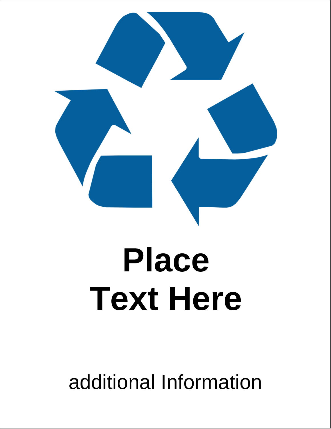 """11"""" x 8½"""" Shipping Label - Industrial Blue Recycle"""