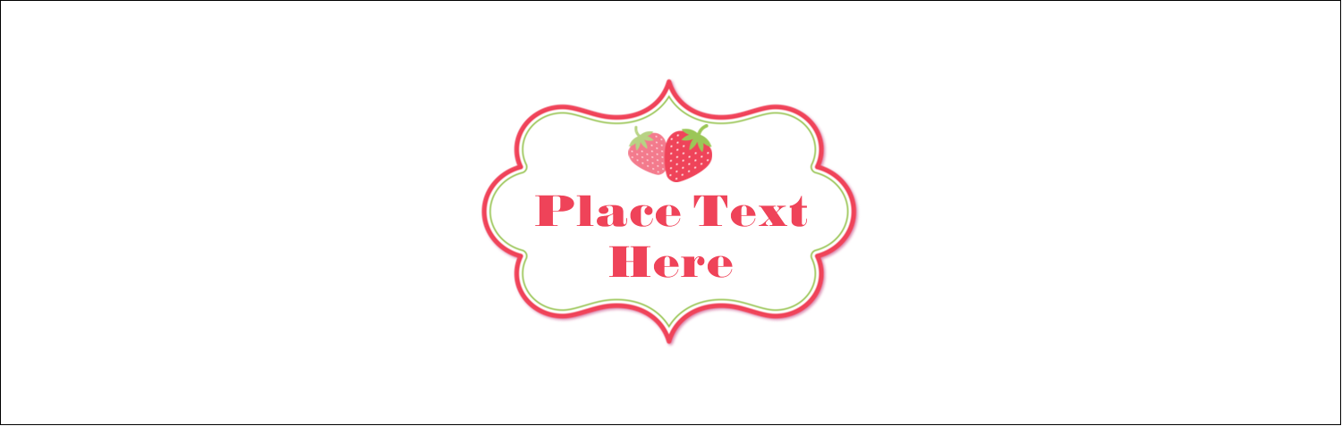 """3½"""" x 11"""" Tent Card - Strawberry Red Green"""
