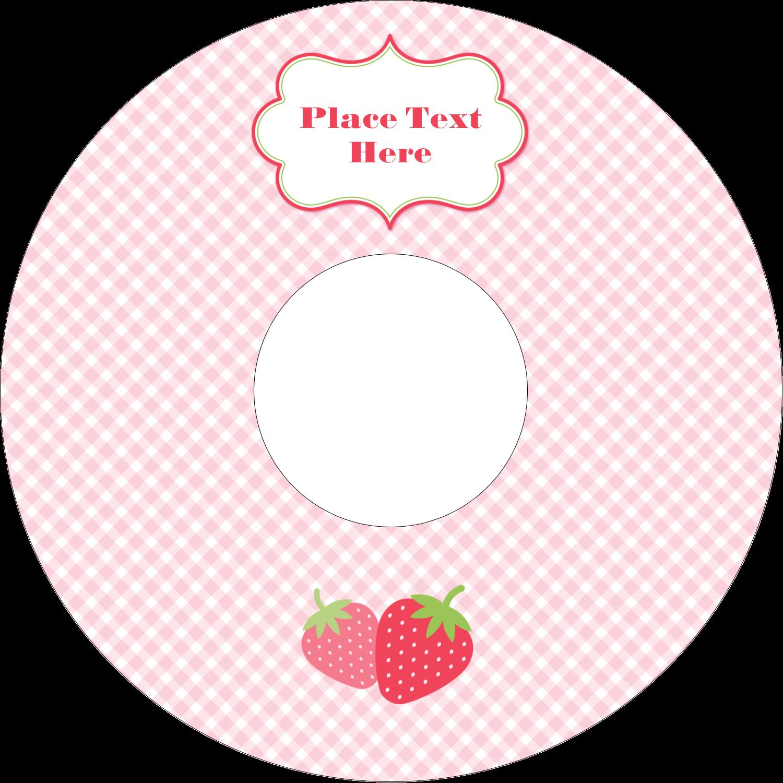 """4.65"""" CD-DVD Label - Strawberry Red Green"""