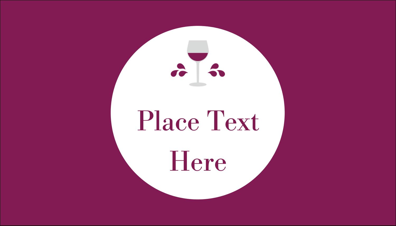"2"" x 3½"" Business Card - Wine Glass"