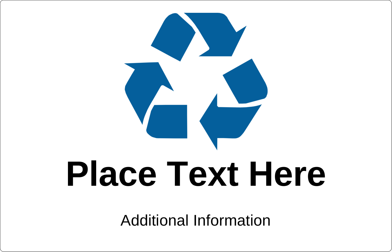 Communicate clear messaging with printable pre-designed Industrial Blue Recycle templates.