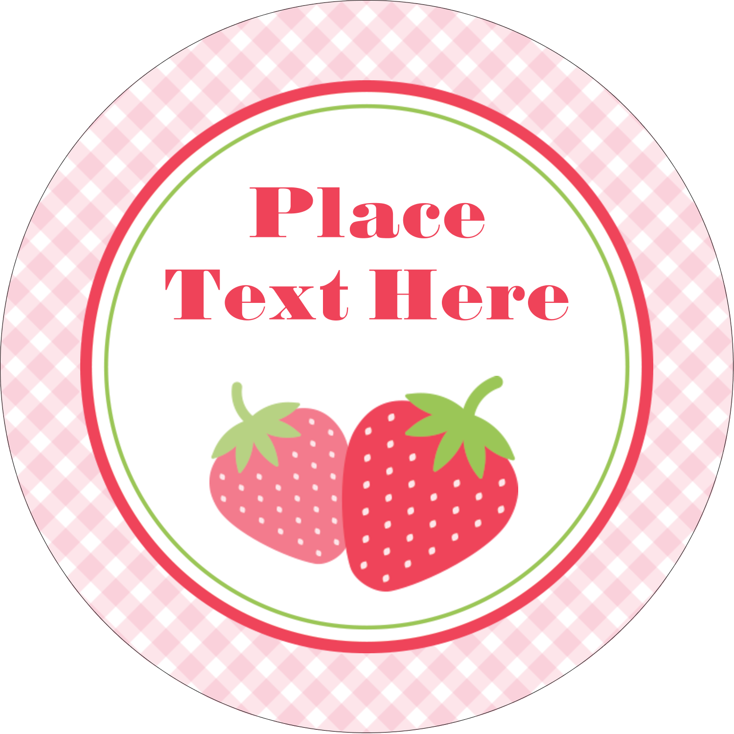 "2½"" Round Label - Strawberry Red Green"