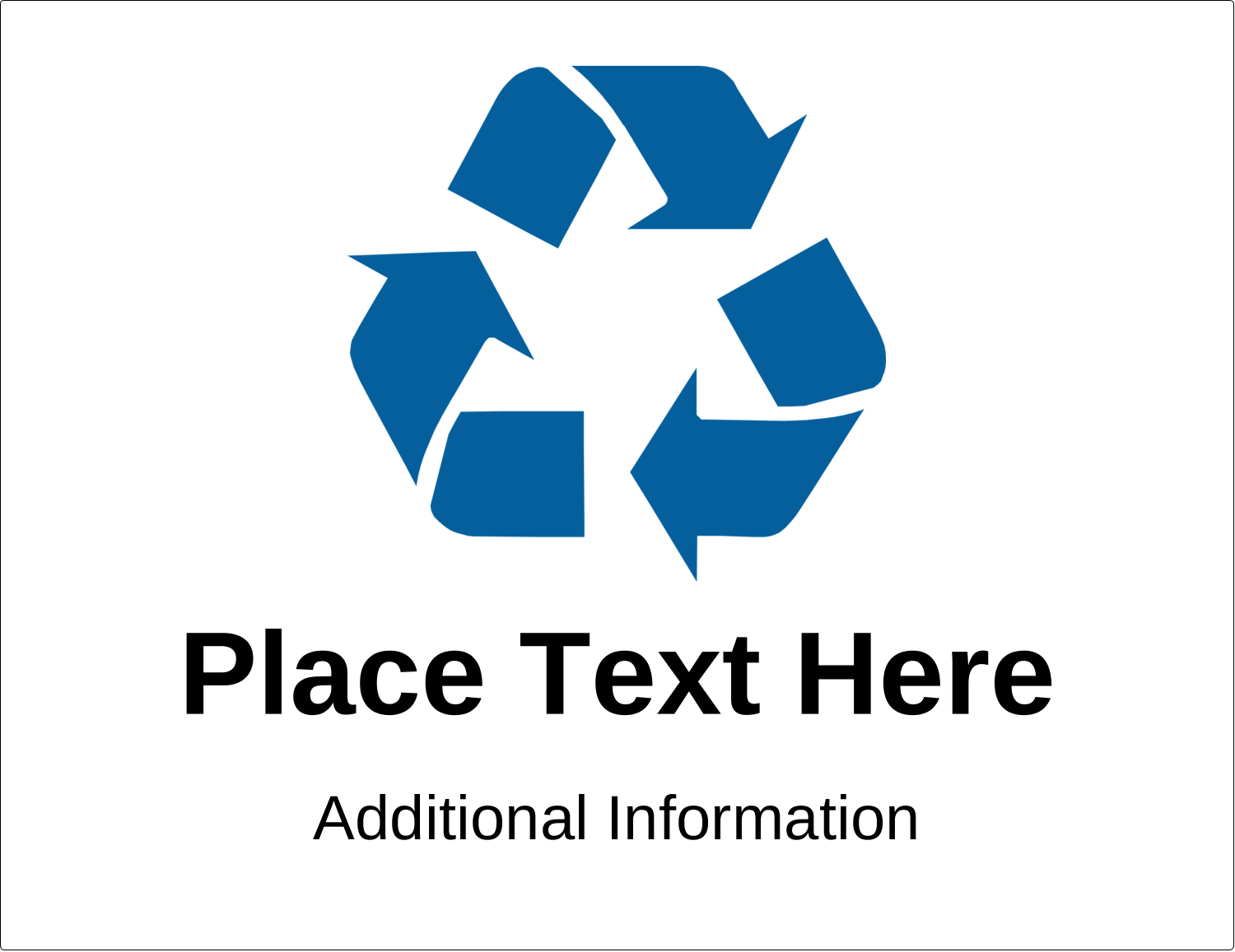 "11"" x 8½"" Industrial Label - Industrial Blue Recycle"