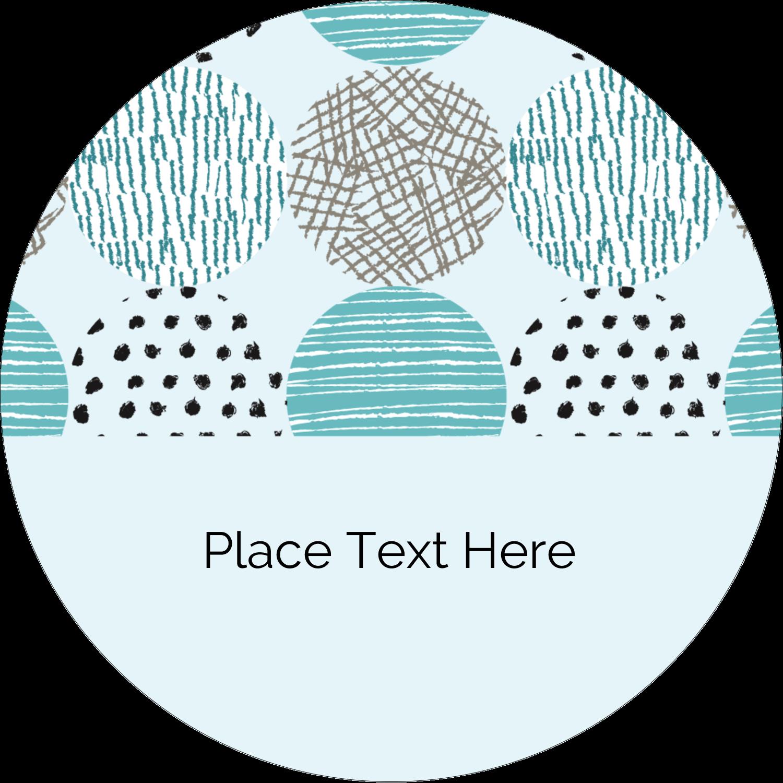 "3"" Round Label - Urban Circles Blue"
