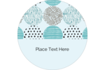 Add distinct charm to custom projects with pre-designed Urban Circles Blue templates.