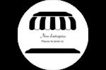 Façade de boutique Étiquettes arrondies - gabarit prédéfini. <br/>Utilisez notre logiciel Avery Design & Print Online pour personnaliser facilement la conception.