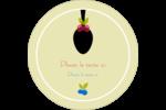 Cuillère à dessert Étiquettes arrondies - gabarit prédéfini. <br/>Utilisez notre logiciel Avery Design & Print Online pour personnaliser facilement la conception.