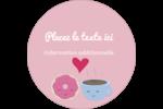 Amours, délices et café Étiquettes rondes - gabarit prédéfini. <br/>Utilisez notre logiciel Avery Design & Print Online pour personnaliser facilement la conception.