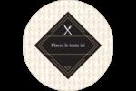 Fourchette et couteau Étiquettes arrondies - gabarit prédéfini. <br/>Utilisez notre logiciel Avery Design & Print Online pour personnaliser facilement la conception.