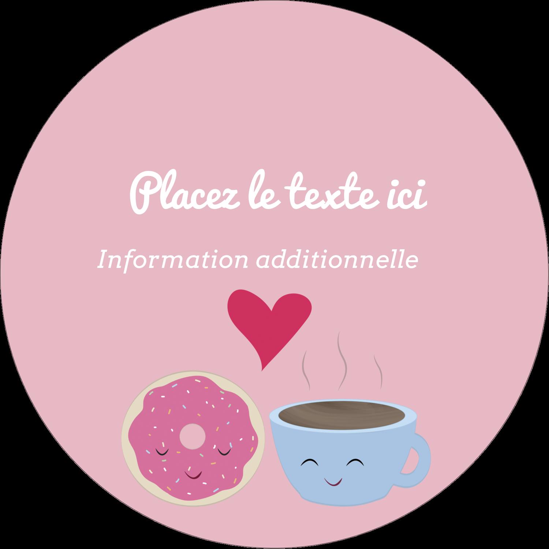 """3-7/16"""" x 15/16"""" Étiquettes de classement - Amours, délices et café"""