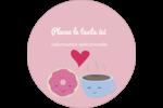 Amours, délices et café Étiquettes arrondies - gabarit prédéfini. <br/>Utilisez notre logiciel Avery Design & Print Online pour personnaliser facilement la conception.