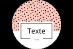 Jolis pois Étiquettes arrondies - gabarit prédéfini. <br/>Utilisez notre logiciel Avery Design & Print Online pour personnaliser facilement la conception.