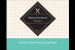 Fourchette et couteau Étiquettes rondes gaufrées - gabarit prédéfini. <br/>Utilisez notre logiciel Avery Design & Print Online pour personnaliser facilement la conception.