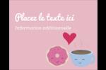 Amours, délices et café Étiquettes rondes gaufrées - gabarit prédéfini. <br/>Utilisez notre logiciel Avery Design & Print Online pour personnaliser facilement la conception.