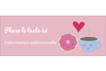 Amours, délices et café Étiquettes D'Adresse - gabarit prédéfini. <br/>Utilisez notre logiciel Avery Design & Print Online pour personnaliser facilement la conception.