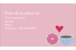 Amours, délices et café Carte d'affaire - gabarit prédéfini. <br/>Utilisez notre logiciel Avery Design & Print Online pour personnaliser facilement la conception.