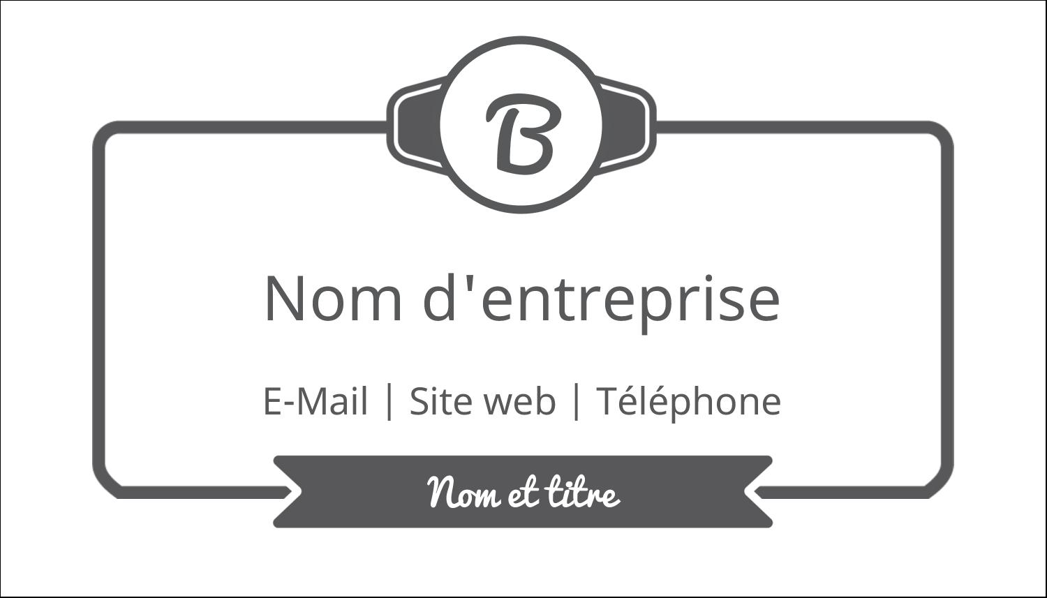 """3½"""" x 2"""" Carte d'affaire - Logo simple"""