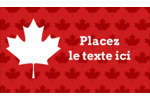Je suis Canadien Carte d'affaire - gabarit prédéfini. <br/>Utilisez notre logiciel Avery Design & Print Online pour personnaliser facilement la conception.