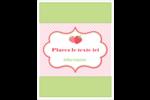 Fraise en rouge et vert Carte Postale - gabarit prédéfini. <br/>Utilisez notre logiciel Avery Design & Print Online pour personnaliser facilement la conception.
