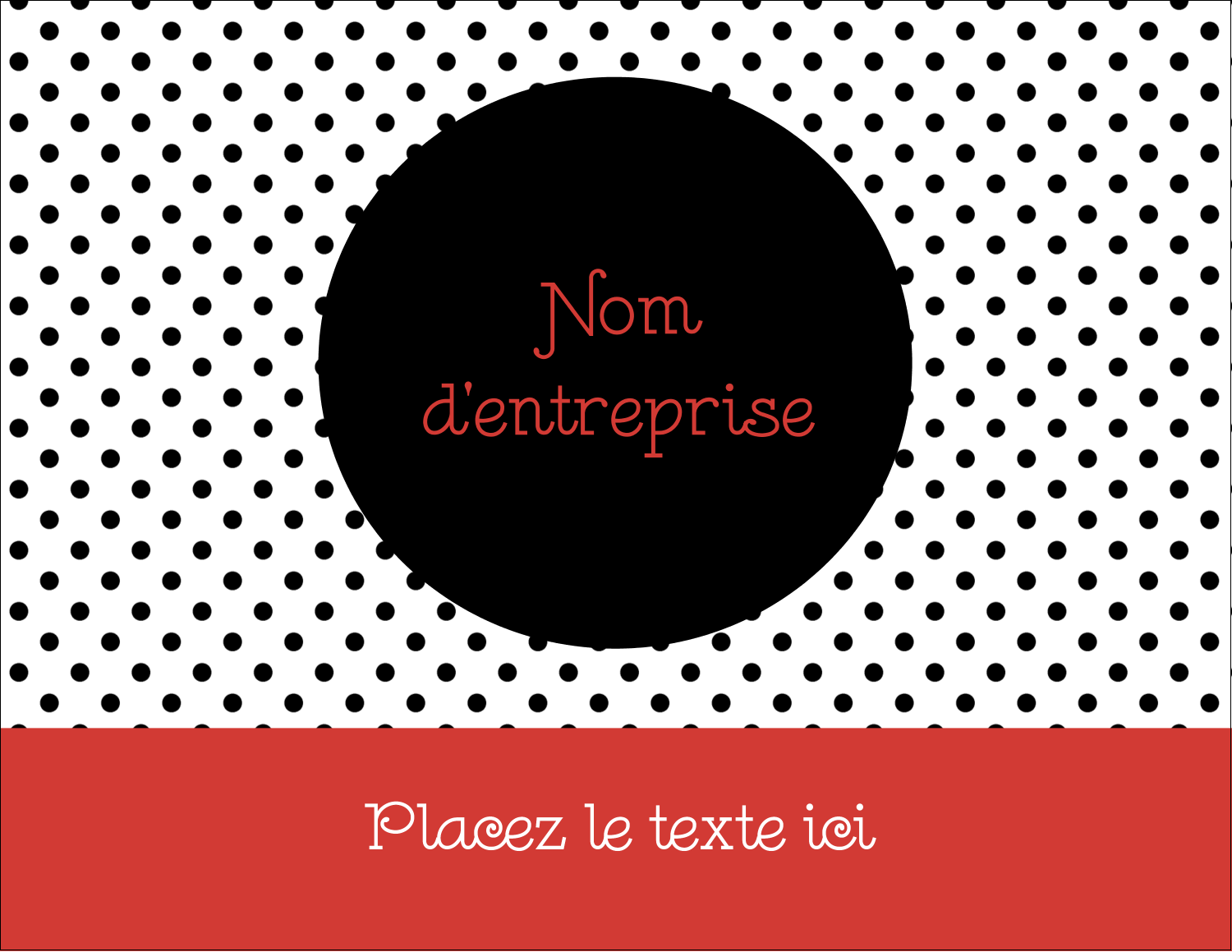 "4¼"" X 5½"" Carte Postale - Points noirs assortis de rouge"