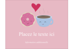 Amours, délices et café Carte Postale - gabarit prédéfini. <br/>Utilisez notre logiciel Avery Design & Print Online pour personnaliser facilement la conception.