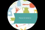 Articles de cuisine Étiquettes rondes - gabarit prédéfini. <br/>Utilisez notre logiciel Avery Design & Print Online pour personnaliser facilement la conception.
