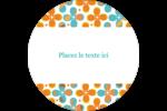 Motif fleuri Étiquettes rondes - gabarit prédéfini. <br/>Utilisez notre logiciel Avery Design & Print Online pour personnaliser facilement la conception.