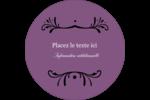 Filigrane violet Étiquettes rondes - gabarit prédéfini. <br/>Utilisez notre logiciel Avery Design & Print Online pour personnaliser facilement la conception.
