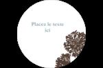 Silhouette de fleur Étiquettes rondes - gabarit prédéfini. <br/>Utilisez notre logiciel Avery Design & Print Online pour personnaliser facilement la conception.