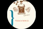 Café classique Étiquettes rondes - gabarit prédéfini. <br/>Utilisez notre logiciel Avery Design & Print Online pour personnaliser facilement la conception.