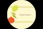 Fruits rétro Étiquettes rondes - gabarit prédéfini. <br/>Utilisez notre logiciel Avery Design & Print Online pour personnaliser facilement la conception.