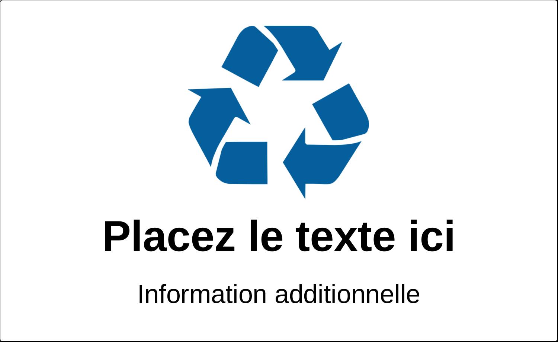"""3½"""" x 5"""" Étiquette Industrielles - Recyclage industriel bleu"""