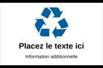 Recyclage industriel bleu Étiquette Industrielles - gabarit prédéfini. <br/>Utilisez notre logiciel Avery Design & Print Online pour personnaliser facilement la conception.