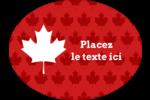 Je suis Canadien Étiquettes ovales - gabarit prédéfini. <br/>Utilisez notre logiciel Avery Design & Print Online pour personnaliser facilement la conception.
